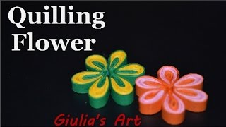 getlinkyoutube.com-DIY Paper Crafts - How to make a Quilling Flower - Tutorial For beginners - Giulia's Art