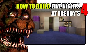 getlinkyoutube.com-How To Build Five Nights at Freddy's 4 Map in Minecraft (Fnaf 4 Map)