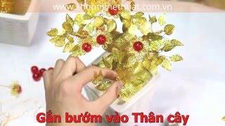getlinkyoutube.com-Hướng dẫn cách làm Cành vàng lá ngọc - Cây kim tiền lộc
