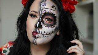 getlinkyoutube.com-Sugar Skull/Day of the Dead Makeup Tutorial ~ HALLOWEEN 2015 / NYX CROATIA FACE AWARDS 2016