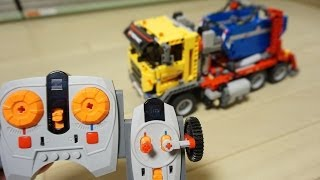 getlinkyoutube.com-LEGO Technic 42024 RC Motorized Container Truck by 뿡대디
