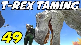 "getlinkyoutube.com-ARK Survival Evolved E49 ""Albino T-rex Taming!"" (Gameplay / Playthrough / 1080p)"