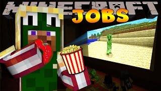 getlinkyoutube.com-Minecraft Jobs - WORKING AT THE CINEMA! (Custom Roleplay)