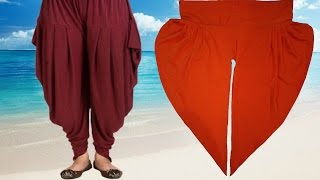 How To Cut And Stitch Dhoti Salwar | Samosa Salwar | Step By Step