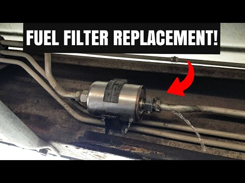How To Replace A Fuel Filter On A GMC Sierra & Chevy Silverado!