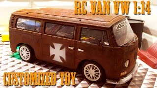getlinkyoutube.com-RC VAN VW COMBI 1:14 - CUSTOMIZED TOY - Rusted body