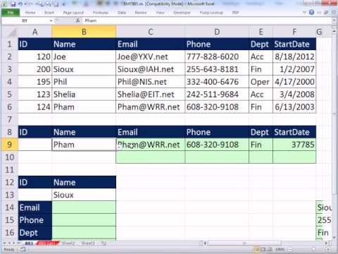 Excel Magic Trick 883: OR VLOOKUP? Lookup One Thing OR Another and Get Correct Record