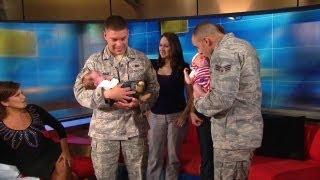 getlinkyoutube.com-Watch: Soldiers meet their newborn babies