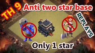 getlinkyoutube.com-Clash of Clans-Town hall 9 (th 9) war base - anti 2 star war base - REPLAYS with MAX ATTACK