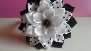 getlinkyoutube.com-Ободок с Цветком на Первое Сентября / Headband with flower on the First of September