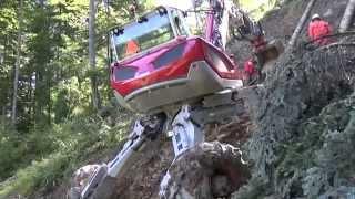 getlinkyoutube.com-Menzi Muck M545 mit neuer Menzi Forst-Seilwinde - with the new Menzi forestry winch
