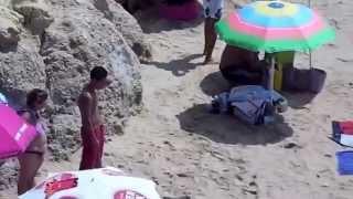 getlinkyoutube.com-португалия.пляж ,прая да роша. PORTIMAO.