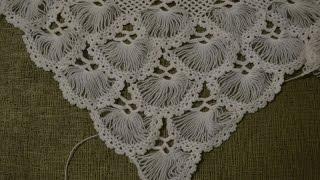 "getlinkyoutube.com-""Турецкая шаль, связанная на карточке"" (Turkish shawl, tied on the card. full version)"
