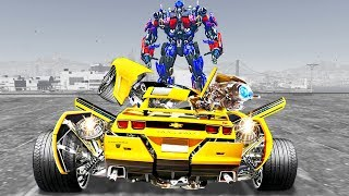 Grand Theft Auto V Mods - Transformers 3 Camaro Bumblebee - GTA 5 TRANSFORMERS MOD