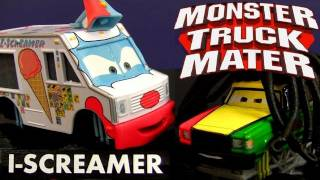 getlinkyoutube.com-Cars Toon I-SCREAMER Deluxe Diecast RASTA CARIAN Monster Truck Mater Disney Kids Mater's tall tales