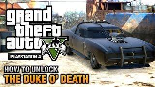 GTA 5 - How to unlock the Duke O' Death [PS4 & Xbox One]