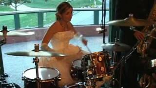 getlinkyoutube.com-Suzanne Morissette Wedding Dress Drum Solo