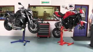 getlinkyoutube.com-Motorcycle Repairs on EazyRizer Lifts