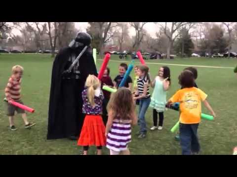 Darth Vader attacked by birthday party