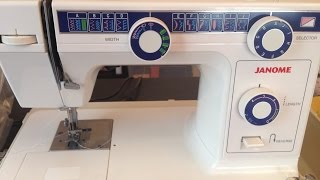 2/ أول درس في تعليم الخياطة - تجهيز المكينة جانوم للعمل / How to Thread a Janome Sewing Machine