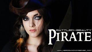 getlinkyoutube.com-Battled-Beauty Pirate | Halloween Makeup Tutorial | Nerds and Nomsense