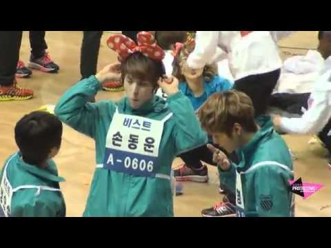 [FANCAM] BEAST WITH  A CUTE MINNIE RIBBON