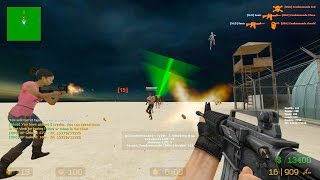 getlinkyoutube.com-Counter Strike Source - Zombie Riot mod online gameplay on Desert Base map