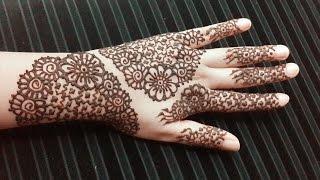 getlinkyoutube.com-Eid Henna Design with Flowers - Easy Simple Mehendi Tattoo - Eid Arabic Mehndi