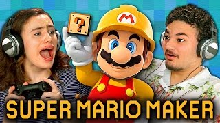 getlinkyoutube.com-SUPER MARIO MAKER (Teens React: Gaming)