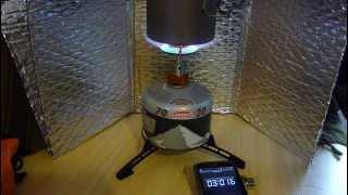 getlinkyoutube.com-Toaks 750ml pot & Vango Ultralite stove - Boil test