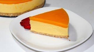 getlinkyoutube.com-No Bake Mango cheese cake By Pachakalokam