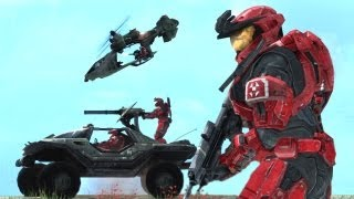 getlinkyoutube.com-Assault on Alpha Base: Covenant Invasion (Halo Reach Machinima)