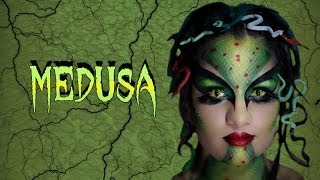 getlinkyoutube.com-Halloween Makeup: Medusa