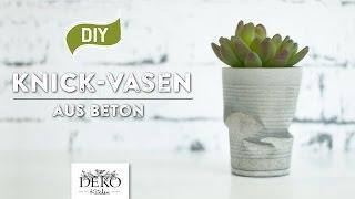 getlinkyoutube.com-DIY: Coole Knickvase aus Beton selber machen [How to] | Deko Kitchen