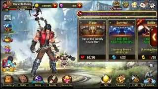 getlinkyoutube.com-Kritika: White Knights, hitting level 65, gearing up and opening 97 gold chests!!!