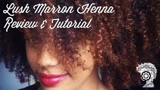 getlinkyoutube.com-Lush Henna on Naturally Curly Hair | Review and Tutorial