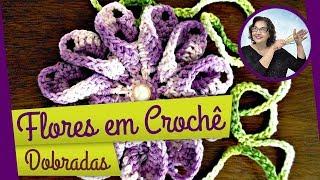 getlinkyoutube.com-FLORES EM CROCHE DOBRADA MODELO UM - 073