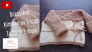 Brassiére 0/3 mois au tricot