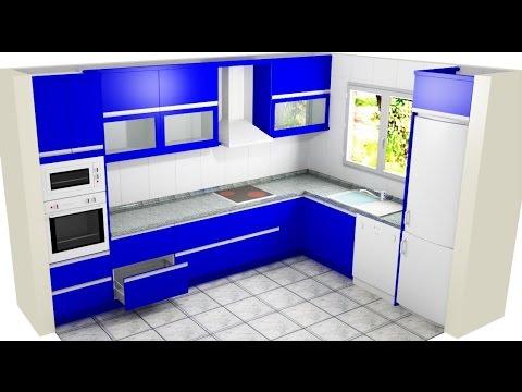 Videos youtube polyboard proyecto mueble alto cocina en for Mueble cocina en l