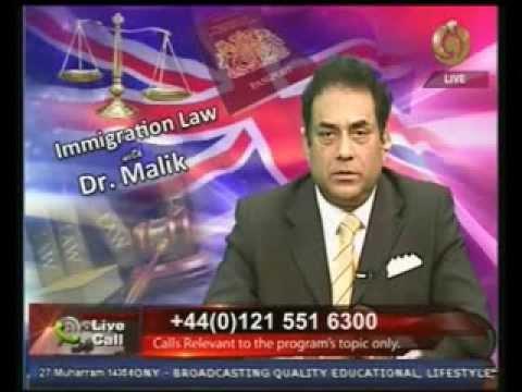 Noor TV Immigration Law  with Dr Malik 30 11 2013
