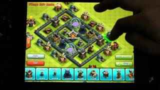 getlinkyoutube.com-Build a base with Daddy - Town Hall 6 - farming base