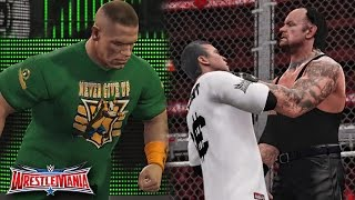 getlinkyoutube.com-WWE Wrestlemania 32 - Undertaker vs Shane McMahon & John Cena Returns Attack Undertaker - WWE 2K16