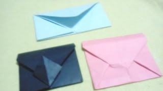 getlinkyoutube.com-3 Diferentes formas de hacer sobres (origami)