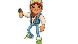getlinkyoutube.com-How to draw Jake from Subway Surfers