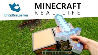 getlinkyoutube.com-Minecraft Real Life - How to make Diamond Sword - BrickRealGames