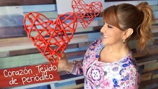 getlinkyoutube.com-Corazón Tejido de Periódico :: Chuladas Creativas
