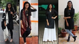 getlinkyoutube.com-Black Kurta Pairing | Lookbook | Disha Gangar