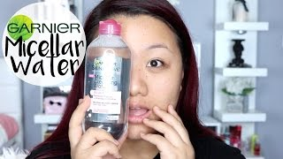 getlinkyoutube.com-GIMMICK or GREAT ? Garnier Micellar Cleansing Water | MEI