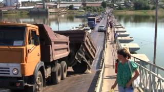 getlinkyoutube.com-ЧП на бирском мосту через реку Белая (#birsk) Road accident on the bridge through the river White