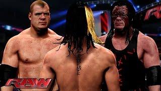 getlinkyoutube.com-WWE RAW 10/5/15  - Seth Rollins vs Corporate Kane & Demon Kane Match - WWE RAW 2K15